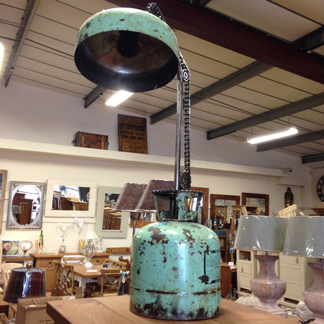 Recycled Materials Lamp