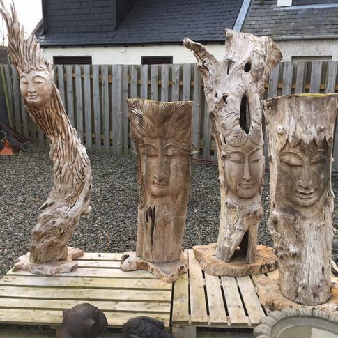 Large Wood Carvings