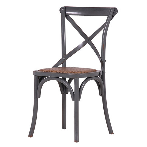 Grey X-Back Dining Chair