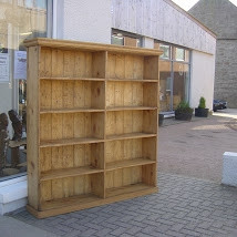 Double Bookcase Reclaimed Pine