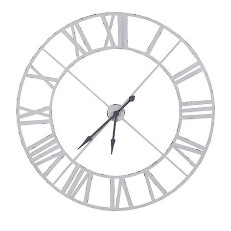 Large White Clock