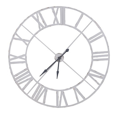 Large White Clock