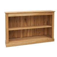 Low Oak Bookcase
