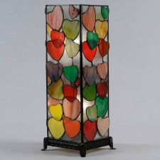 Large Square Heart Lamps