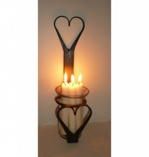 Wall heart Candle Holder