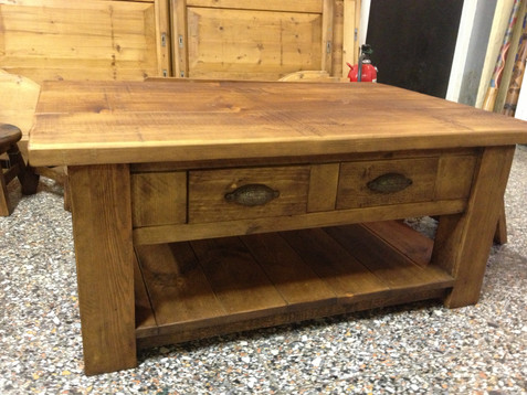Plank Coffee 2 Drawer Table with Breadboard