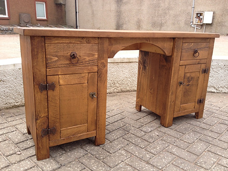Plank 2 Drawer 2 Door Desk