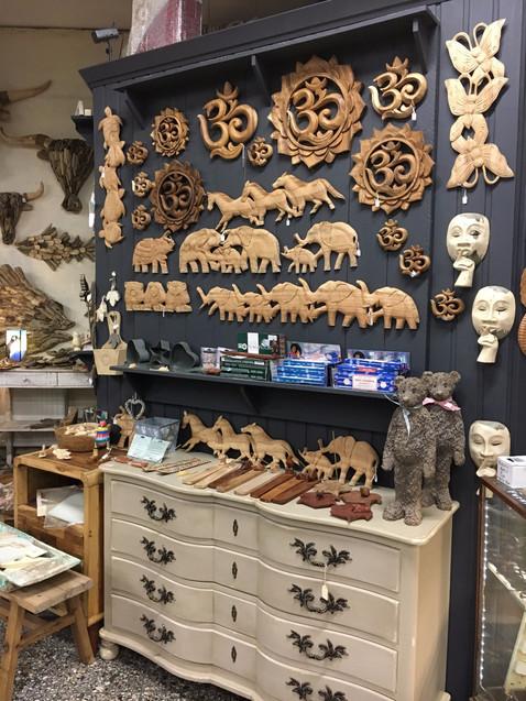 Om, Mandala, Elephant, Butterfly Carvings