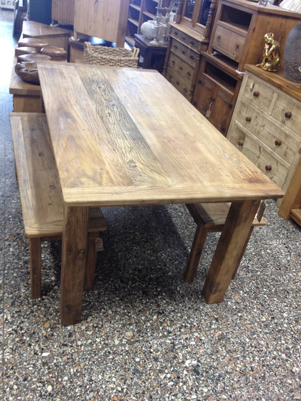 Reclaimed Elm Dining Table
