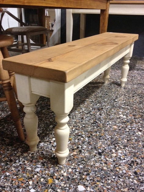 Turned Farmhouse Bench