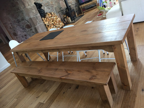 Plank Table and Bench Set