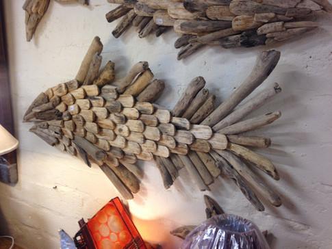 Large Driftwood Fish Wall Art