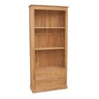 Oak Bookcase 2 Drawer