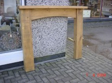 Plank Fire Surround Arched