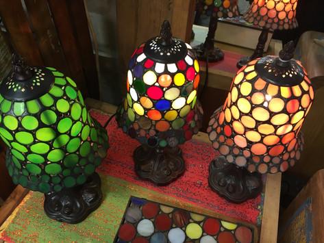 Small Polka-Dot Lamps