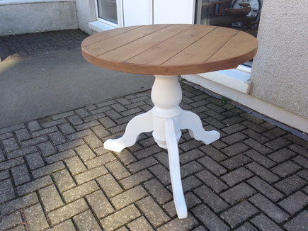 Round Plank Dining Table