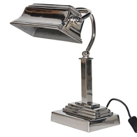 Bankers Lamp Chrome