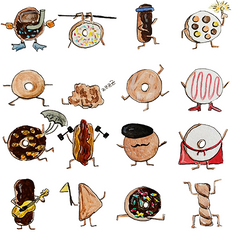 """Cranky Al's Donuts' Day Off (24, 1"""" donuts)"""