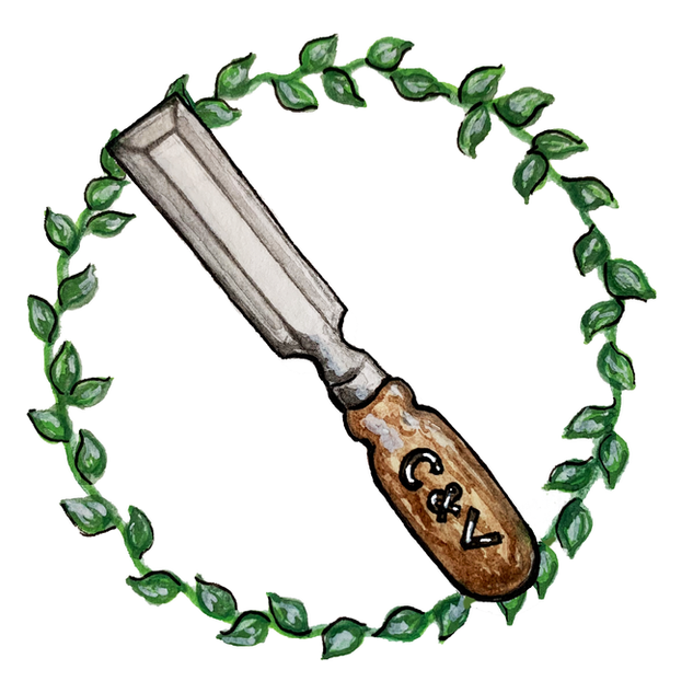 Chisel and Vine Contracting Logo