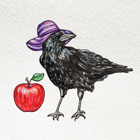 Purple Apple Crow