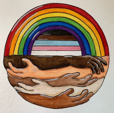 6x6in MKE LGBTQ+ watercolor illustration