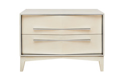 TUXEDO LACQUER BEDSIDE CHEST