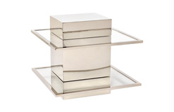 CANTILEVERED TWO-TIER SIDE TABLE