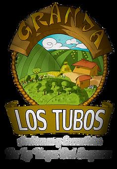 Logotipo creado por Aceitunas Granja los tubos. Diseñado por el artista Miguel Ángel Vegara Vegara.
