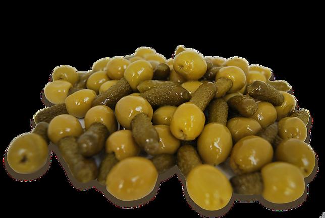 Aceitunas rellenas de pepino Granja los tubos