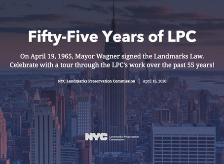 Fifty-Five Years of Landmarks Preservation Commission (LPC)