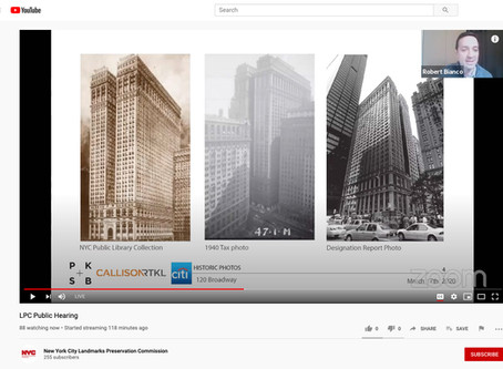 """Virtual"" Public Hearing and Approval for 120 Broadway (aka the Equitable Building)"