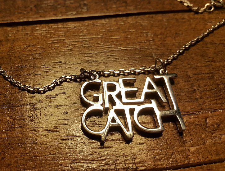 Great Catch pendant and chain