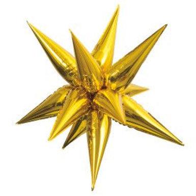 "Balloon Foil 28"" Star Gold"