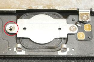 iPhoneホームボタンのネジの欠損