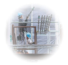 iPhone修理瑞穂町の工事現場でのiPhone修理サービス
