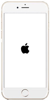 iPhone以降のの強制再起動の画面