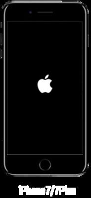 /iPhone7の強制再起動の画面