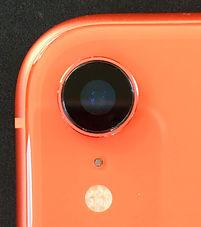 iPhoneXRカメラレンズカバーガラス割れ修理後
