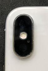 iPhoneXカメラレンズカバーガラス割れ修理後