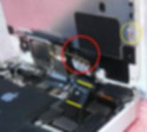 iPhone自己修理ケーブル切断