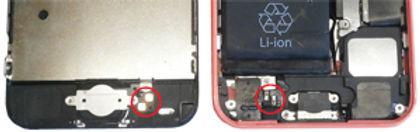 iPhoneホームボタンブラケットネジの欠損