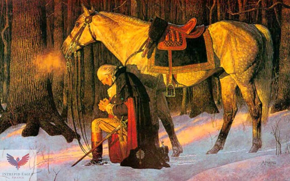 George Washington Kneeling, Praying