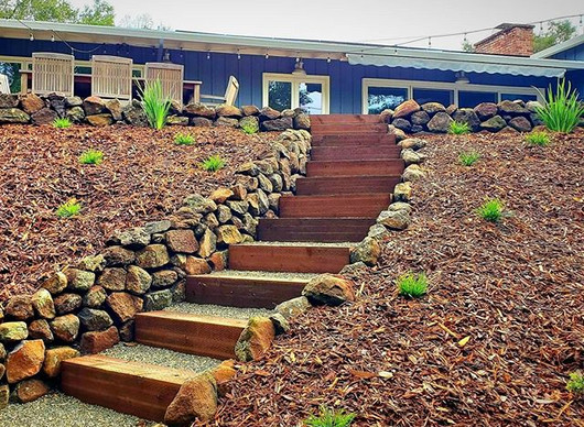 Natural Hillside Stairs