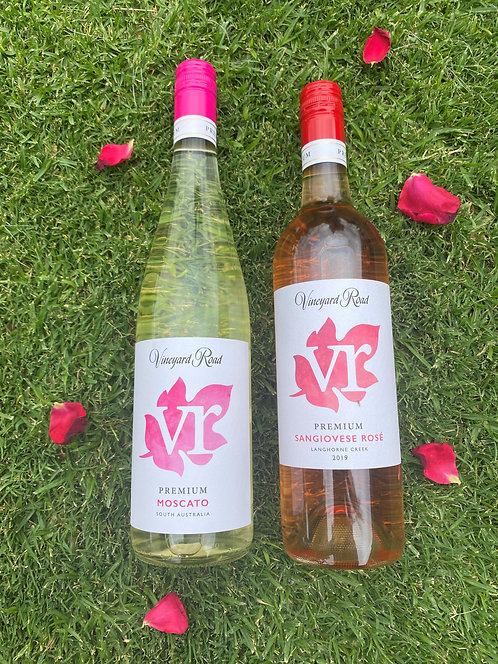 Vineyard Road Moscato and Rosé 6-pack