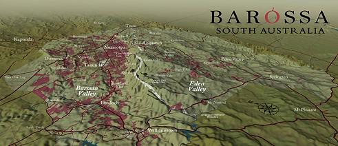 Barossa Valley - Map - Sheaoak Log Estate