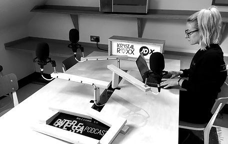 Krystal Roxx prepares her podcast.jpg