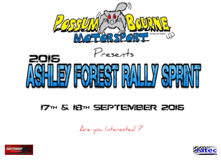 2016 ASHLEY FOREST RALLY SPRINT