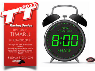 TT Racing Series - TIMARU REMINDER