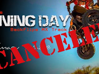 TRAINING DAY CANCELED
