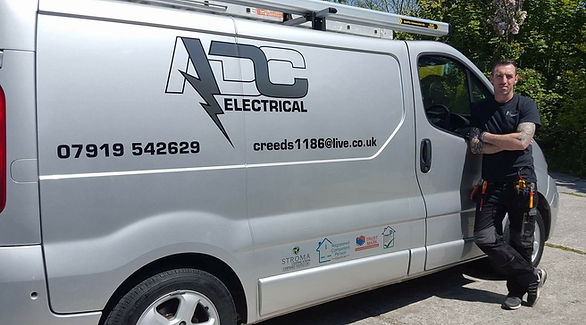 Roo with ADC Electrical Van
